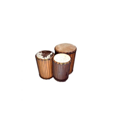 WAKA DRUMS AFRICAN DUNDUN SANGBANG AND KENKINIUM SET