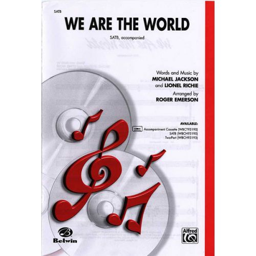 ALFRED PUBLISHING EMERSON - WE ARE THE WORLD - MIXED VOICES SATB
