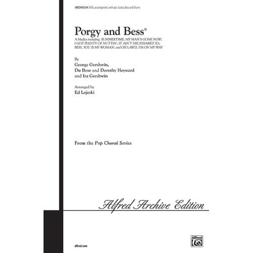 ALFRED PUBLISHING GERSHWIN GEORGE - PORGY AND BESS MEDLEY - MIXED VOICES