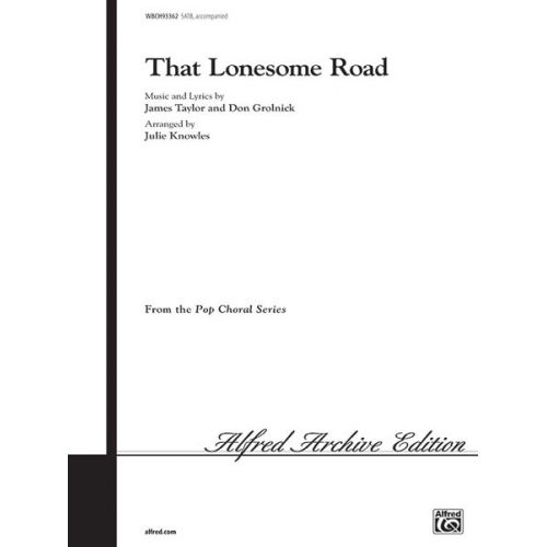 ALFRED PUBLISHING THAT LONESOME ROAD - MIXED VOICES