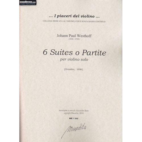MUSEDITA WESTHOFF J. P. - 6 SUITES - VIOLON SOLO