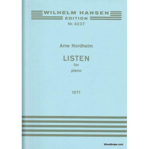 WILHELM HANSEN NORDHEIM ARNE - LISTEN FOR PIANO (1971)