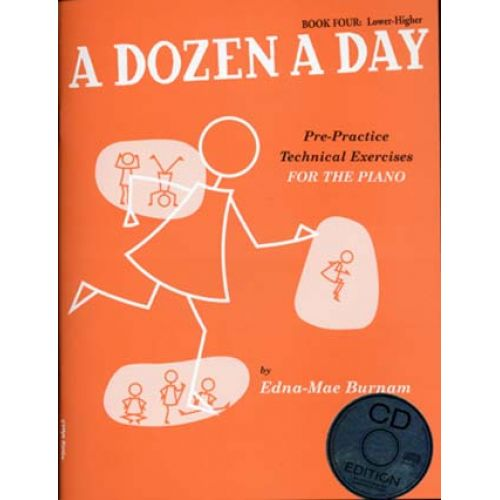 MUSIC SALES BURNAM EDNA MAE - DOZEN A DAY BOOK.4 + CD
