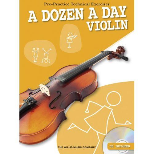 THE WILLIS MUSIC COMPANY A DOZEN A DAY - VIOLIN