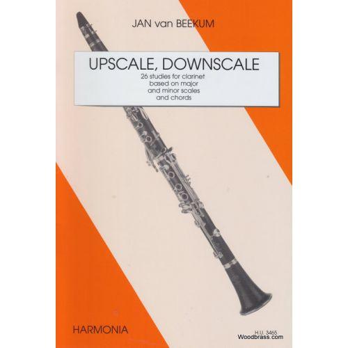 HARMONIA BEEKUM JAN (VAN) - UPSCALE, DOWNSCALE - CLARINETTE