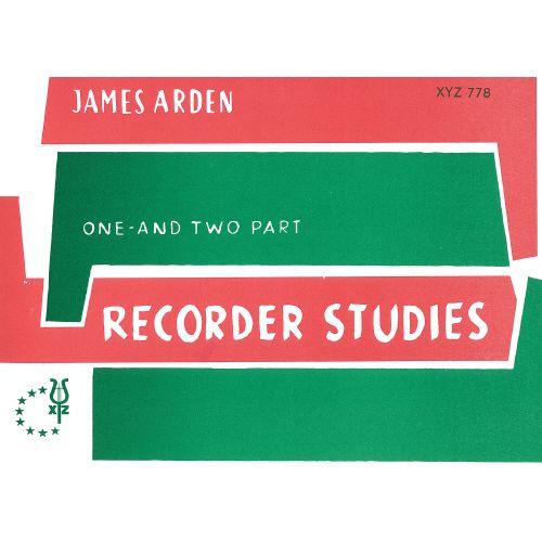 XYZ ARDEN JAMES - RECORDER STUDIES