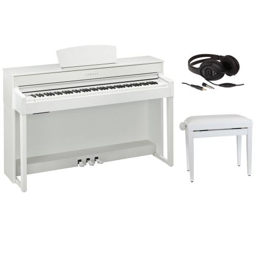 YAMAHA CLAVINOVA CLP 535WH WHITE + BENCH + HEADPHONES