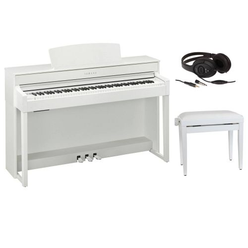 YAMAHA CLAVINOVA CLP 545WH WHITE + BENCH + HEADPHONES