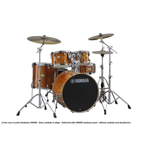 YAMAHA STAGE CUSTOM BIRCH - STANDARD - HONEY AMBER + PACK HARDWARE HW680W