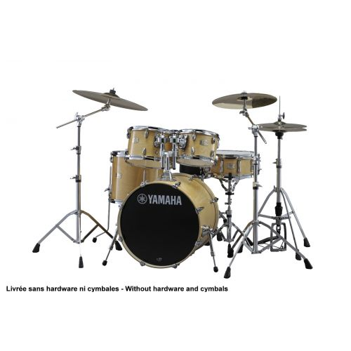 YAMAHA STAGE CUSTOM BIRCH NATURAL WOOD + PACK HARDWARE HW780