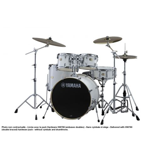 YAMAHA STAGE CUSTOM BIRCH - STANDARD - PURE WHITE + PACK HARDWARE HW780