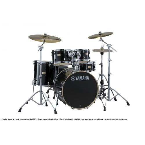 YAMAHA STAGE CUSTOM BIRCH - STANDARD - RAVEN BLACK + PACK HARDWARE HW680W