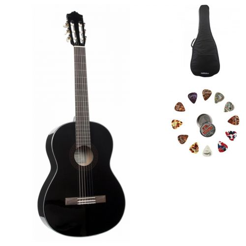 YAMAHA ETUDE C40BL BLACK + ACCESSORIES