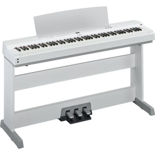 YAMAHA P255 WEISS + STAND + PEDAL