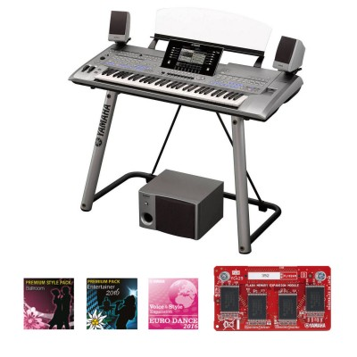 YAMAHA TYROS 5 61 KEYS + TRS-MS05 MONITORS + STAND + GOLD EXPANSION KIT