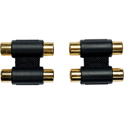 YELLOW CABLE AD15 - ADAPTATEUR 2 RCA FEMELLE / 2 RCA FEMELLE (PAIRE)