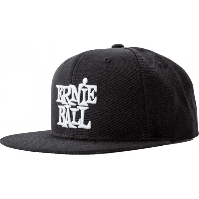 ERNIE BALL BLACK WITH WHITE LOGO HAT
