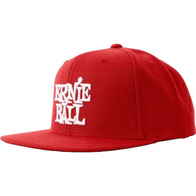 ERNIE BALL RED WITH WHITE LOGO HAT