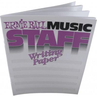 ERNIE BALL MUSIC STAFF WRITING PAPER
