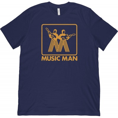 ERNIE BALL T-SHIRT MM VINTAGE GOLD LOGO - L