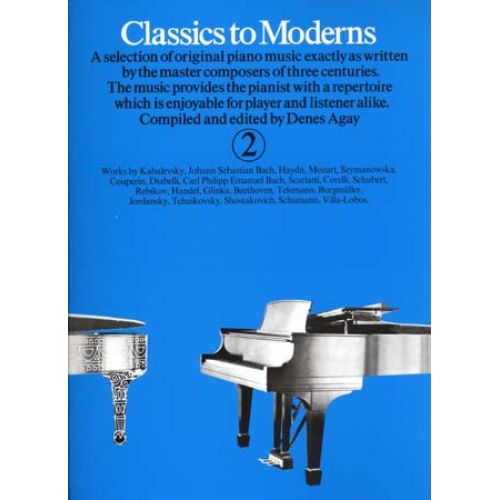 MUSIC SALES CLASSICS TO MODERNS VOL 2 - PIANO