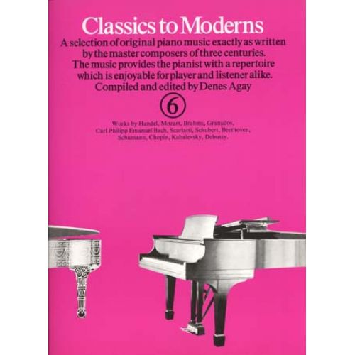 MUSIC SALES CLASSICS TO MODERNS VOL 6 - PIANO
