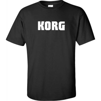 KORG T-SHIRT KORG XL TEXTILE TEE SHIRTS BLACK KORG SIZE XL