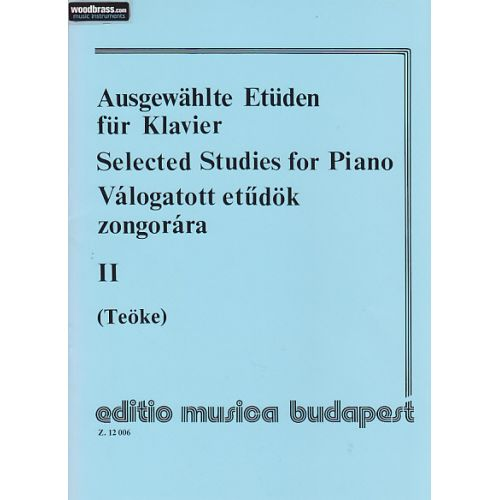 EMB (EDITIO MUSICA BUDAPEST) TEOKE - SELECTED STUDIES VOL.2