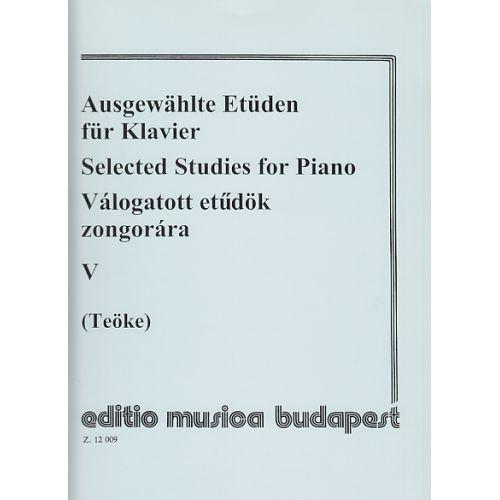 EMB (EDITIO MUSICA BUDAPEST) TEOKE - SELECTED STUDIES FOR PIANO VOL.5