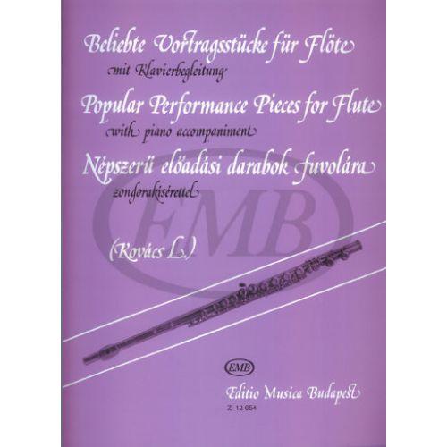 EMB (EDITIO MUSICA BUDAPEST) KOVACS L. - POPULAR PERFORMANCE PIECES - FLUTE, PIANO
