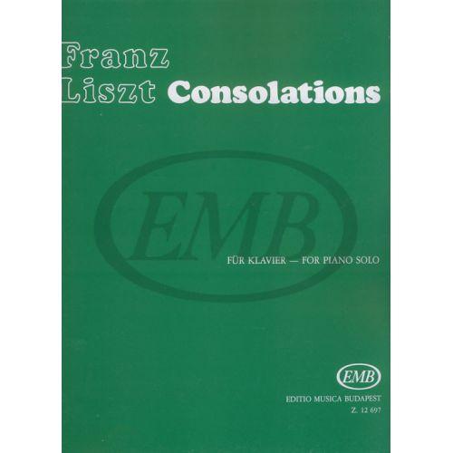 EMB (EDITIO MUSICA BUDAPEST) LISZT FRANZ - CONSOLATIONS (N° 1-6) - PIANO