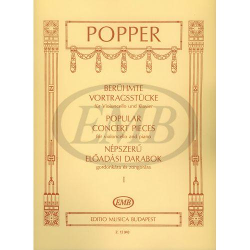 EMB (EDITIO MUSICA BUDAPEST) POPPER D. - POPULAR CONCERT PIECES VOL.1 - VIOLONCELLE ET PIANO