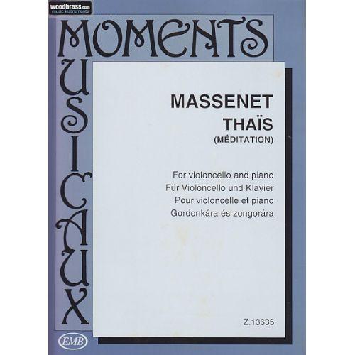 EMB (EDITIO MUSICA BUDAPEST) MASSENET JULES - THAÏS (MEDITATION) - VIOLONCELLE & PIANO