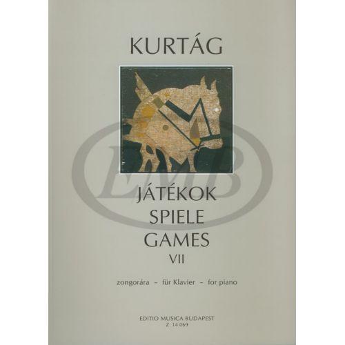 EMB (EDITIO MUSICA BUDAPEST) KURTAG G. - GAMES VOL.7 - PIANO
