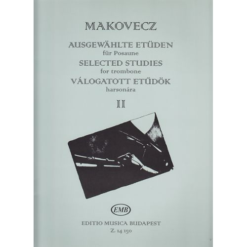 EMB (EDITIO MUSICA BUDAPEST) MAKOVECZ PAL - SELECTED STUDIES VOL.2