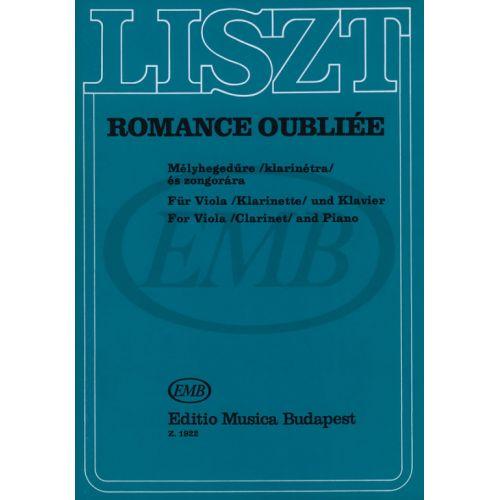 EMB (EDITIO MUSICA BUDAPEST) LISZT F. - ROMANCE OUBLIEE - ALTO, PIANO