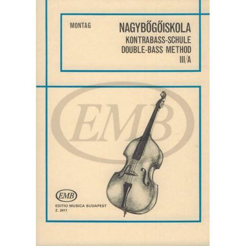 EMB (EDITIO MUSICA BUDAPEST) MONTAG LAJOS - DOUBLE-BASS METHOD