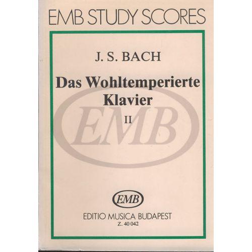 EMB (EDITIO MUSICA BUDAPEST) BACH J.S. - DAS WOHLTEMPERIERTE KLAVIER II - PIANO