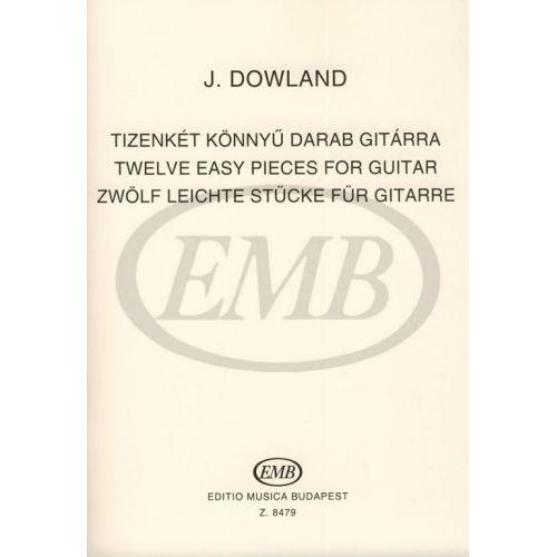 EMB (EDITIO MUSICA BUDAPEST) DOWLAND JOHN - 12 PIECES - GUITAR