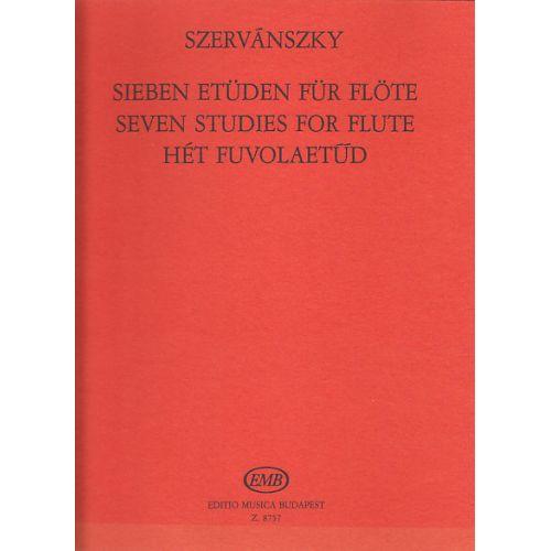 EMB (EDITIO MUSICA BUDAPEST) SZERVANSZKY E. - SEVEN STUDIES FOR FLUTE