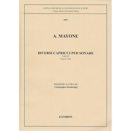 ZANIBON MAYONE DIVERSI CAPRICCI PER SONARE, LIBRO II, NAPOLI 1609