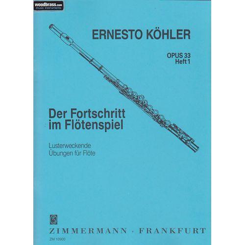 ZIMMERMANN KOHLER ERNESTO - ETUDES OP.33 VOL.1