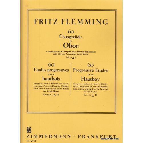 ZIMMERMANN FLEMMING FRITZ - 60 ETUDES PROGRESSIVES POUR LE HAUTBOIS VOL.2
