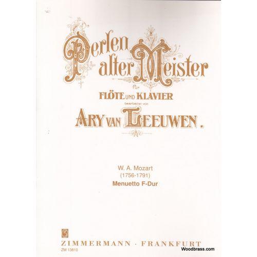 ZIMMERMANN MOZART W.A. - MENUETTO F-DUR - FLUTE ET PIANO