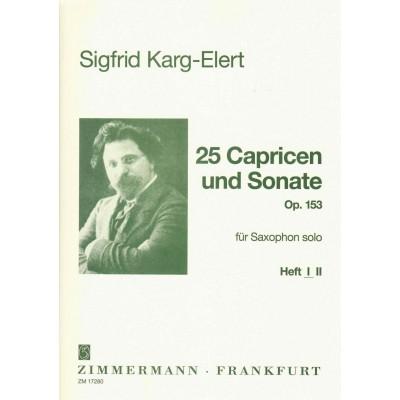ZIMMERMANN KARG-ELERT SIGFRID - 25 CAPRICES ET SONATE OP.153 VOL.1