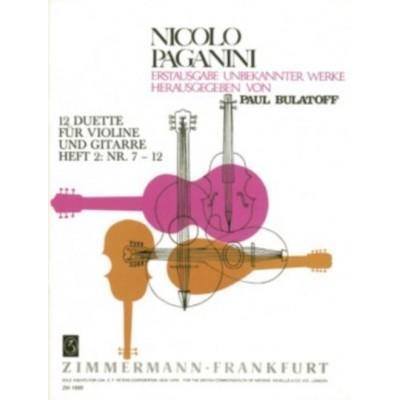 ZIMMERMANN PAGANINI N. - 12 DUETS VOL.2 FOR VIOLIN & GUITAR - N° 7-12