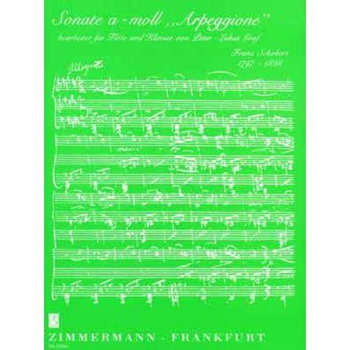 ZIMMERMANN SCHUBERT FRANZ - SONATE A-MOLL