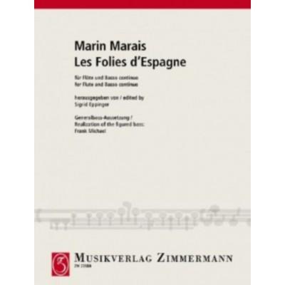ZIMMERMANN MARIN MARAIS - LES FOLIES D'ESPAGNE - FLUTE & BASSE CONTINUE