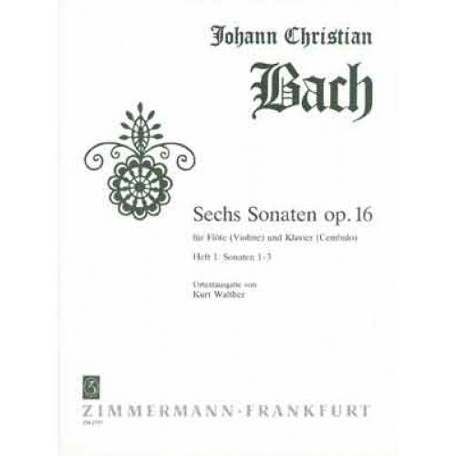ZIMMERMANN BACH J.C. - SECHS SONATEN OP.16 VOL.1