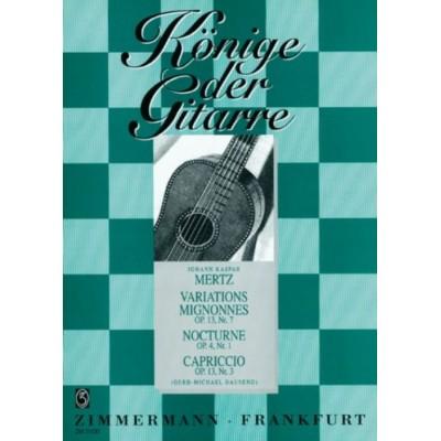 ZIMMERMANN MERTZ J.K. - VARIATIONS MIGNONNES, NOCTURNE, CAPRICCIO - GUITARE SEULE